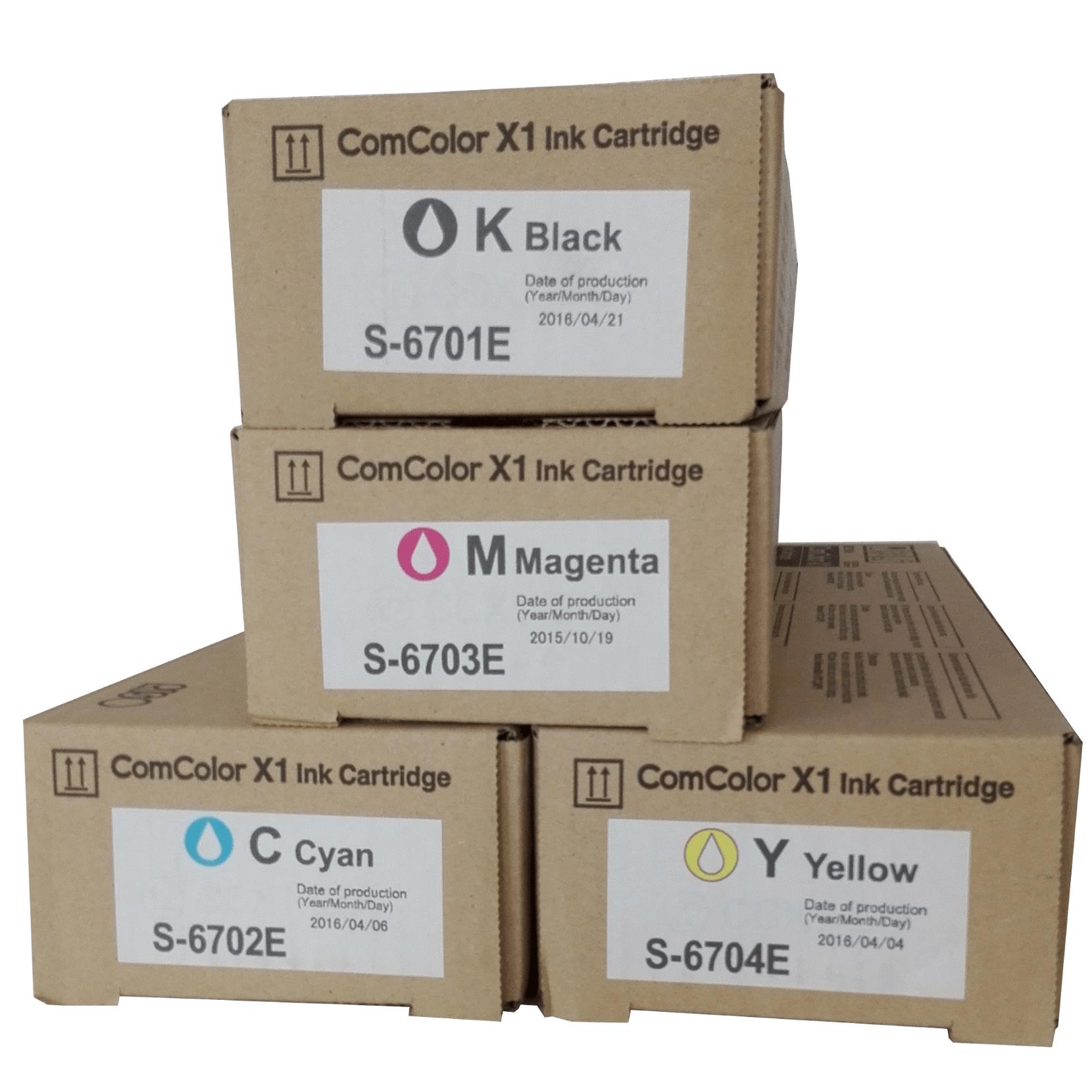 Farby (tusze) Riso - ComColor X1 Ink Cartridge - S-6701E S-6702E S-6703E S-6704E