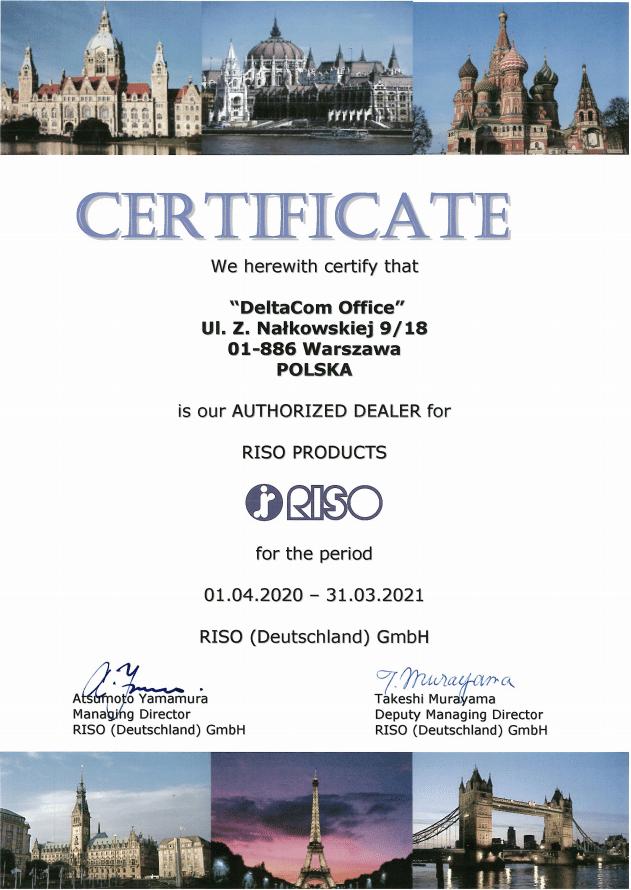 Deltacom Office oficjalny dystrybutor RISO